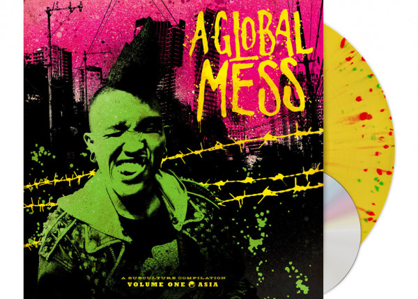 "V.A. - A Global Mess - Vol. One: Asia 12"" LP LTD SPLATTER + CD + POSTER"