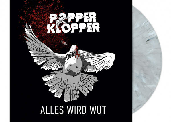 "POPPERKLOPPER - Alles wird Wut 12"" LP LTD - WHITE MARBLED"