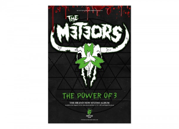 METEORS, THE - The Power Of 3 Poster
