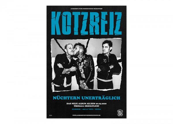 KOTZREIZ - Nüchtern unerträglich Poster