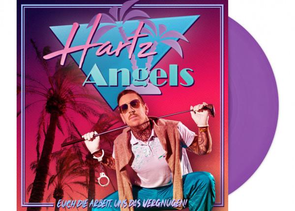 """HARTZ ANGELS - Euch die Arbeit, uns das Vergnügen! LTD 12"""" LP+CD - PURPLE"""