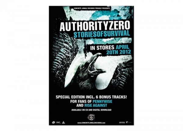 AUTHORITY ZERO - Stories Of Survival Poster