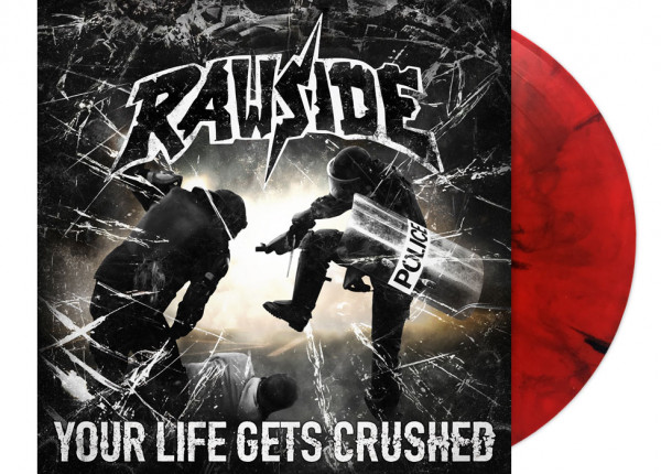 "RAWSIDE - Your Life Gets Crushed 12"" LP LTD - RED"