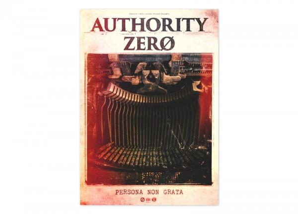 AUTHORITY ZERO - Persona Non Grata Poster