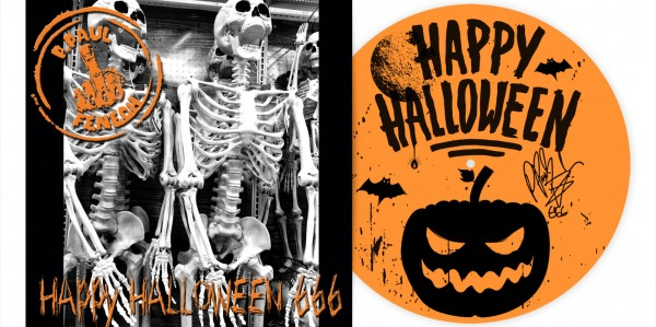 "P. PAUL FENECH - Happy Halloween 666 12"" EP LTD - ORANGE W/ SILKSCREEN PRINT"