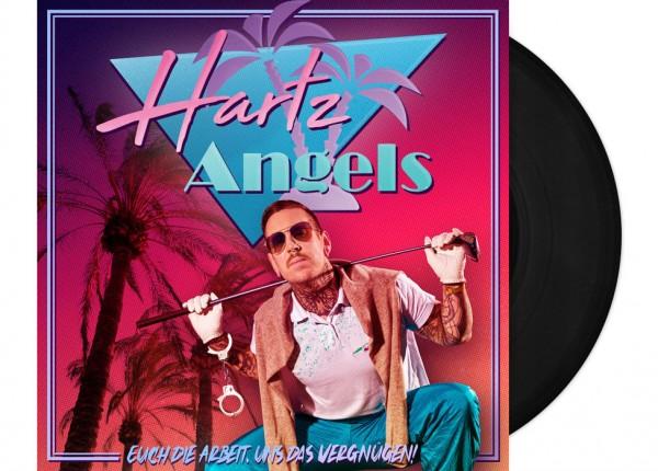 """HARTZ ANGELS - Euch die Arbeit, uns das Vergnügen! LTD 12"""" LP+CD - BLACK"""