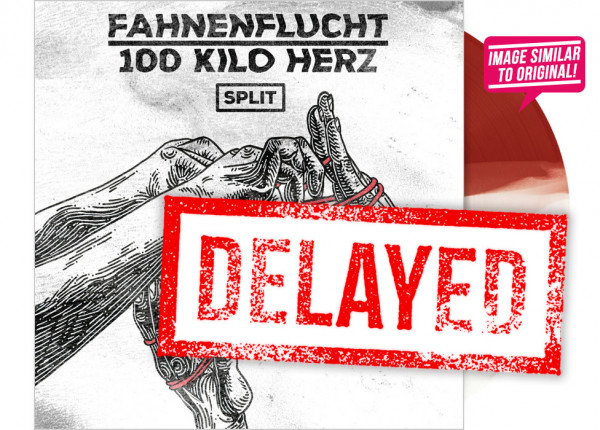 "FAHNENFLUCHT / 100 KILO HERZ - Split 12"" EP - HALF/HALF"