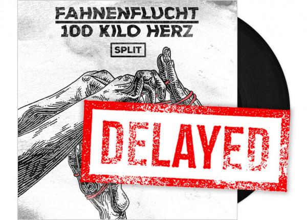 "FAHNENFLUCHT / 100 KILO HERZ - Split 12"" EP - BLACK"