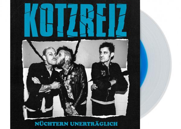 """KOTZREIZ - Nüchtern unerträglich 12"""" LP - CLEAR/BLUE"""
