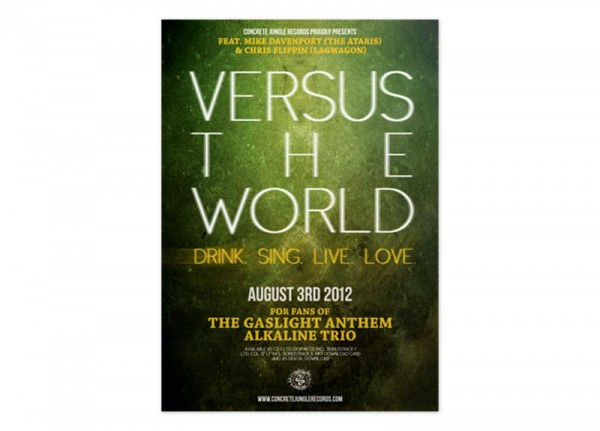 VERSUS THE WORLD - Drink. Sing. Live. Love. Poster