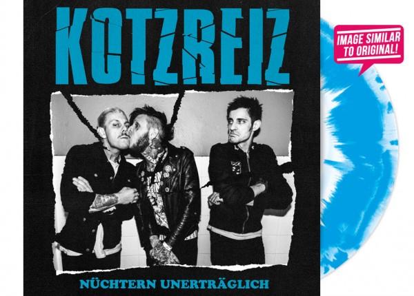"""KOTZREIZ - Nüchtern unerträglich LTD 12"""" LP - BLUE/WHITE"""