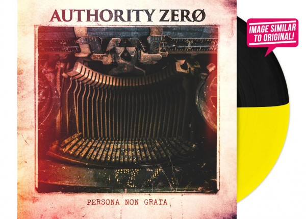 "AUTHORITY ZERO - Persona Non Grata 12"" LP LTD - YELLOW/BLACK"