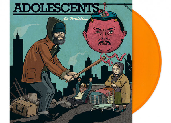 "ADOLESCENTS - La Vendetta 12"" LP LTD - ORANGE"