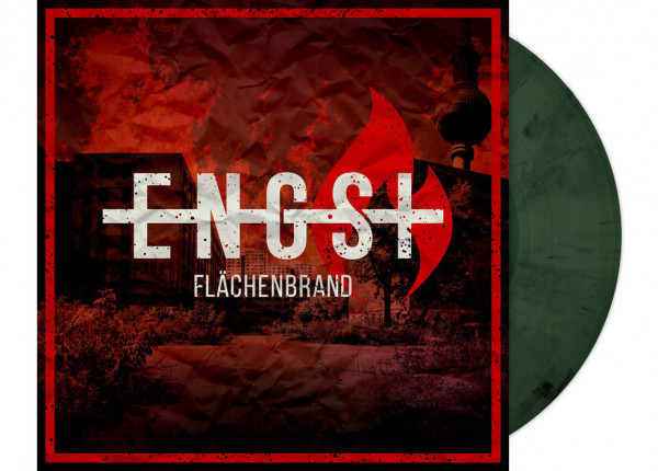 "ENGST - Flächenbrand 12"" LP LTD - GREEN/BLACK MARBELED"