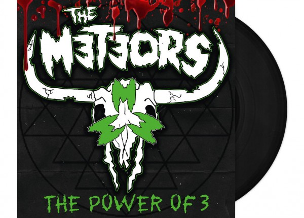 """METEORS, THE - The Power Of 3 12"""" LP - BLACK"""