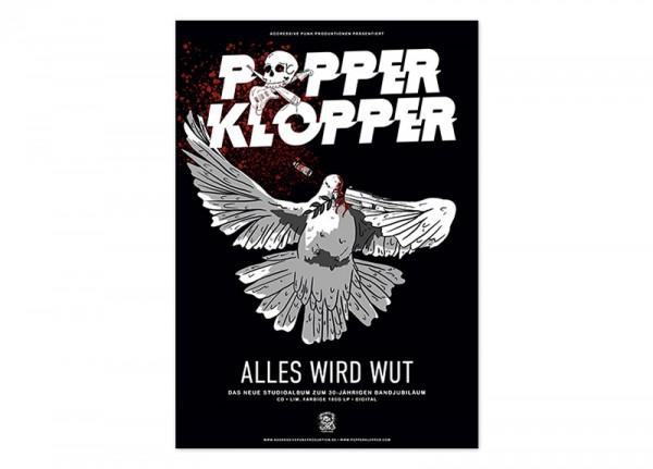 POPPERKLOPPER - Alles wird Wut Poster