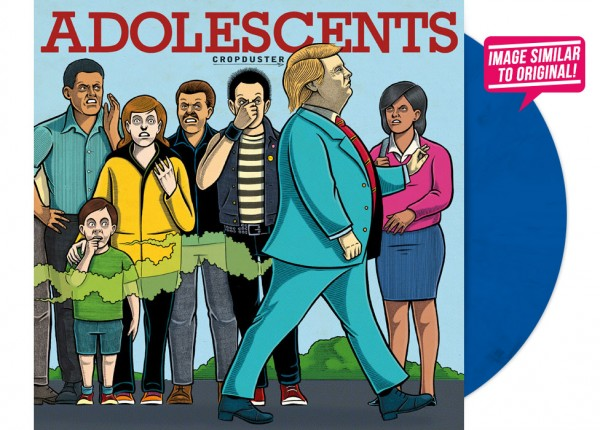 """ADOLESCENTS - Cropduster LTD 12"""" LP - BLUE"""