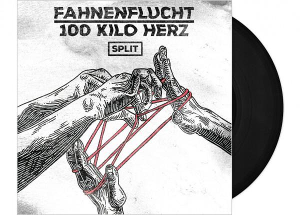 "FAHNENFLUCHT / 100 KILO HERZ - Split LTD 12"" EP - BLACK"