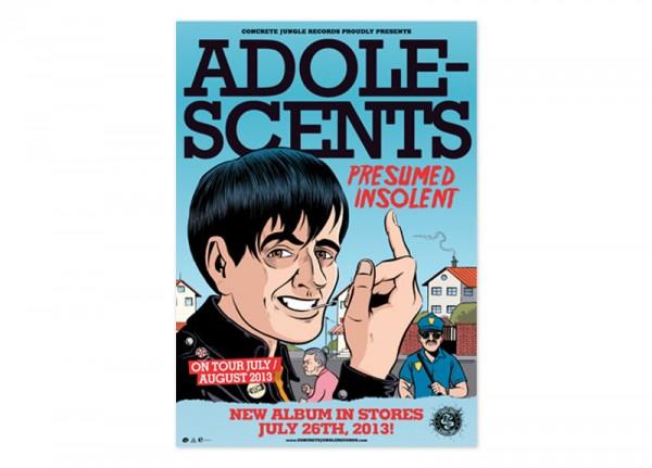 ADOLESCENTS - Presumed Insolent Poster