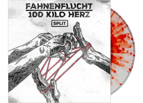 """FAHNENFLUCHT / 100 KILO HERZ - Split LTD 12"""" EP - SPLATTER"""