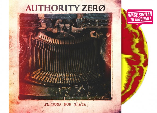 "AUTHORITY ZERO - Persona Non Grata 12"" LP LTD - YELLOW/RED"