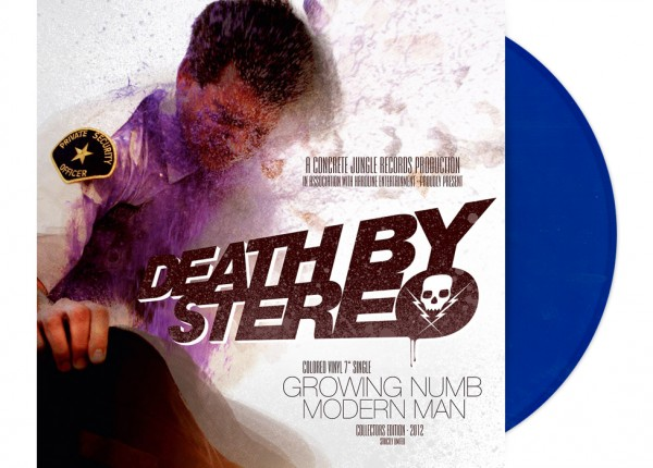 "DEATH BY STEREO - Growing Numb / Modern Man 7"" Single LTD - BLUE"