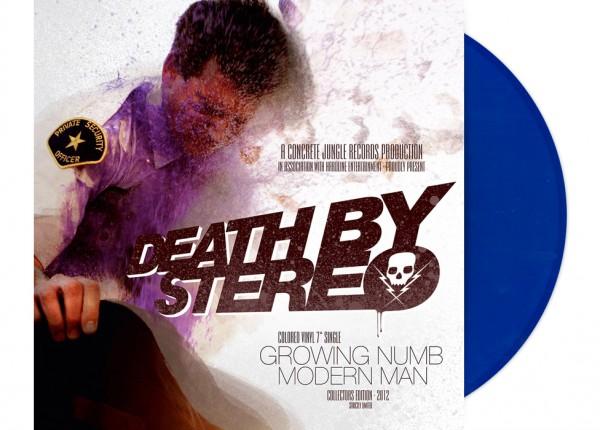 "DEATH BY STEREO - Growing Numb / Modern Man 7"" Single LTD - BLUE"