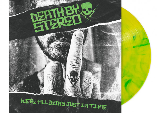 """DEATH BY STEREO - We're All Dying Just In Time 12"""" LP - YELLOW/GREEN"""
