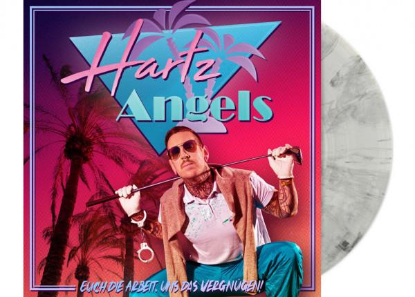 """HARTZ ANGELS - Euch die Arbeit, uns das Vergnügen! LTD 12"""" LP+CD - CLEAR"""