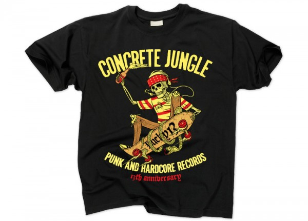 CONCRETE JUNGLE RECORDS - 13 Years Anniversary T-Shirt