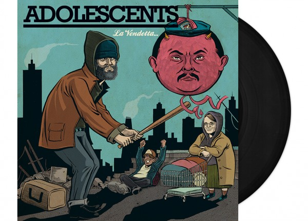 "ADOLESCENTS - La Vendetta 12"" LP LTD - BLACK"