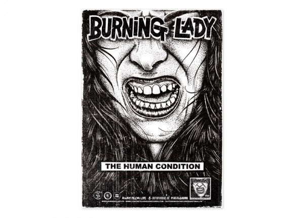 BURNING LADY - The Human Condition Poster