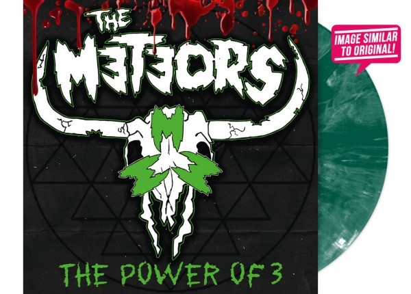 """METEORS, THE - The Power Of 3 12"""" LP - GREEN"""