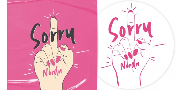 "NORDN - Sorry 12"" EP LTD - WHITE W/ SILKSCREEN PRINT"