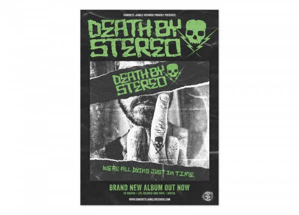DEATH BY STEREO - We're All Dying Just In Time Poster