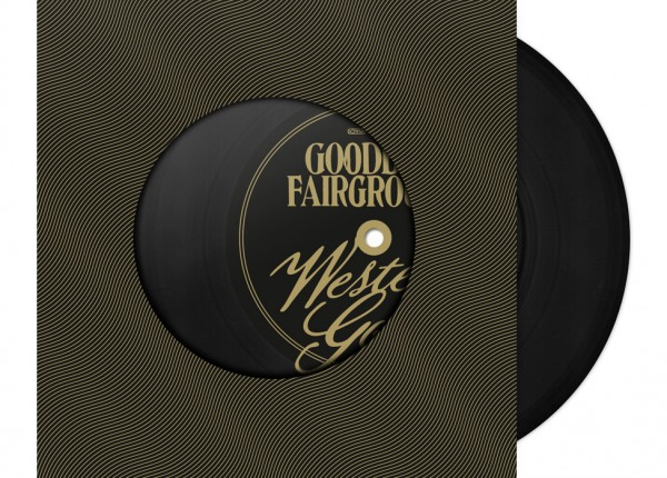 "GOODBYE FAIRGROUND - Western Gold / The Fisher King 7"" Single LTD BLACK"